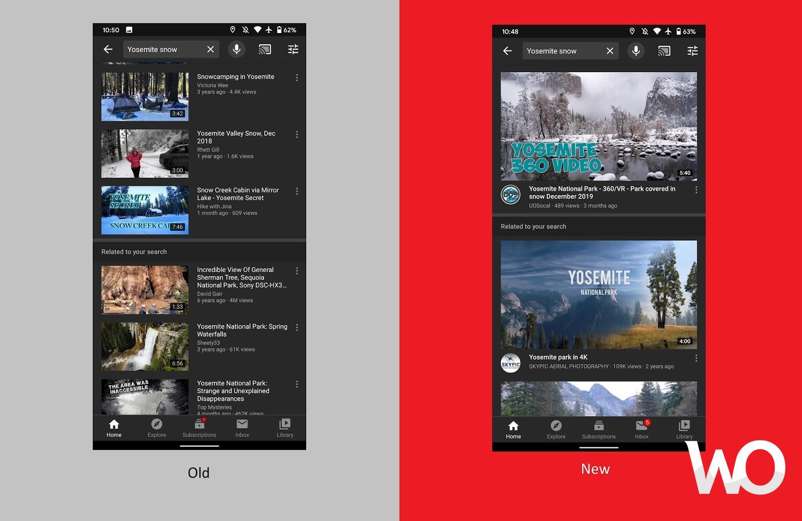 YouTube'un Android Uygulamasında Yeni Thumbnail Test Ediliyor