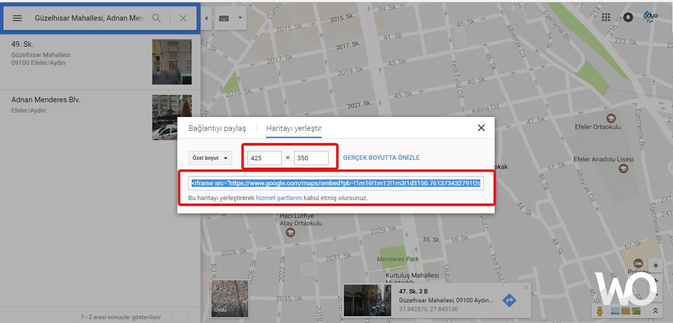Google Maps Konumunuz Sitenize Nasıl Eklenir ?