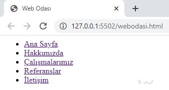 HTML5 yapısal etiketler nav etiketi