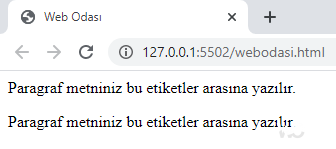 HTML p etiketi