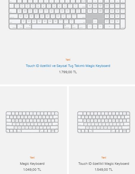 magic keyboard fiyatları - apple resmi web sitesi